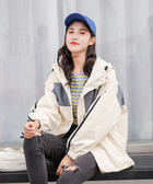 《NEW》韓系女裝 拼色雙條紋袖連帽外套 2色售【C0648】韓妞穿搭必備 阿華有事嗎