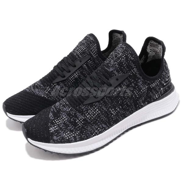 Puma 休閒慢跑鞋 AVID EvoKnit Mosaic 黑 白 雪花 襪套 男鞋 女鞋 運動鞋 【PUMP306】 36660102