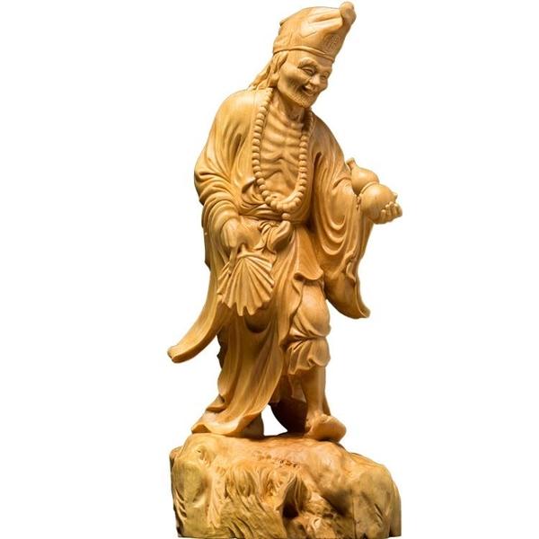 黃楊木雕實木客廳汽車雕刻工藝品人物佛像供奉文玩小擺件濟公