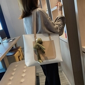 大包包女秋冬新款可愛ins大容量托特包大學生上課手提單肩包 歌莉婭