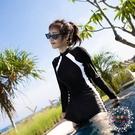 泳衣女 新款泳衣女士專業運動連體平角保守顯瘦遮肚潛水長袖溫泉泳裝【限時八折】