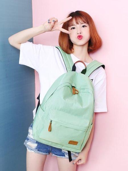 WINNER/優勝者春夏季新款女背包 大容量書包簡約純色運動雙肩包