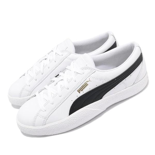Puma 休閒鞋 Love Wns 白 黑 金標 小白鞋 基本款 女鞋 【ACS】 37210408
