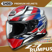 [中壢安信]日本 SHOEI Z-7 彩繪 RUMPUS TC-1 紅白 輕量 全罩 安全帽 小帽體 透氣