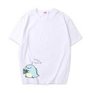 可愛恐龍短袖上衣親子裝(女大人/白色)