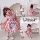 女童西班牙公主裙蓬蓬夏天無袖洋裝兒童洛麗塔洋裝寶寶生日禮服
