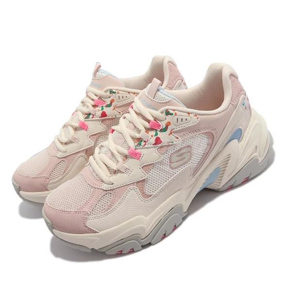 Skechers Stamina V2-ART Walk 休閒鞋 粉紅 米白 藍 女鞋 【ACS】 149512-NMLT