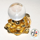 水晶球+金蓮座  AA 【十方佛教文物】