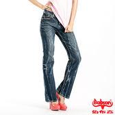 BOBSON 女款縱向重刷紋小喇叭褲(9086-53)