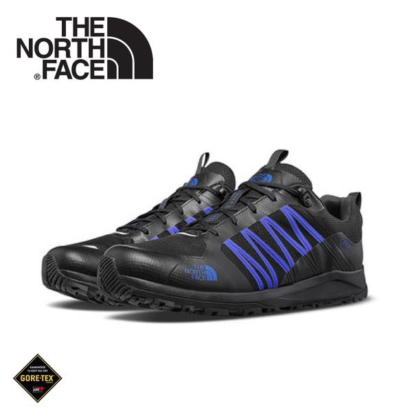 【The North Face 美國 男 GORE-TEX徒步鞋《黑/藍》】469T/健行鞋/防水/越野鞋/健行鞋/跑步/路跑
