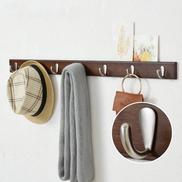 多功能掛鉤門后衣架墻上掛衣鉤墻壁排鉤衣服掛鉤壁掛創意掛衣架 IGO