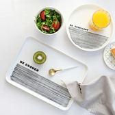 北歐簡約托盤塑料長方形家用收納端菜蛋糕面包水果盤茶盤小杯子盤 享購