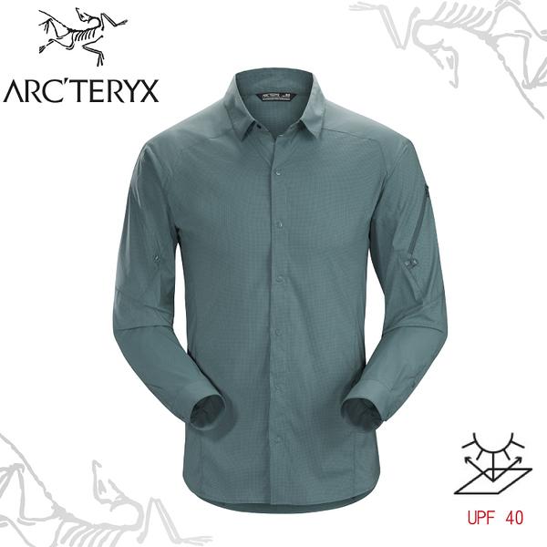 【ARC TERYX 始祖鳥 男 Elaho 抗UV長袖襯衫《海王星》】13652/排汗襯衫/休閒衫/透氣快乾/吸濕排汗