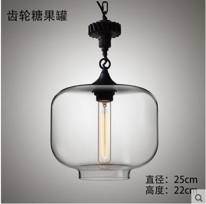 美術燈 吧台咖啡廳客廳歐式餐廳燈具現代簡約混搭工業麻繩吊燈(齒輪款 ) -不含光源
