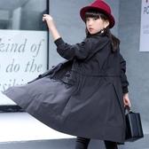 限定款厚外套 女童外套春秋快速出貨免運正韓中大童洋氣公主女孩秋裝中長版兒童風衣