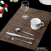 加厚西餐墊餐布歐式PVC隔熱墊餐桌墊盤墊碗墊水洗 完美情人精品館