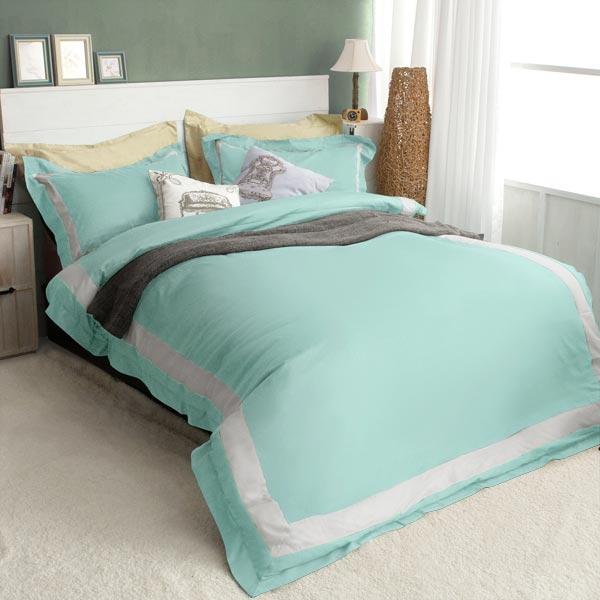 絲光精梳棉 雙人4件組(床包+被套+枕套) 皇家森林-蒂芬妮夢 BUNNY LIFE