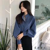 春裝襯衫女長袖韓版寬鬆上衣
