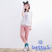betty's貝蒂思 LOGO牌子斜紋布七分褲(淺桔)