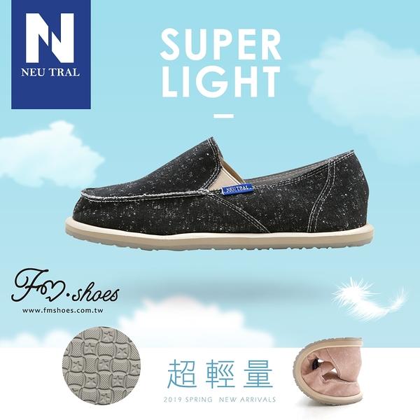 休閒鞋.刷破漂浮懶人鞋(黑)-FM時尚美鞋-NeuTral.Spring