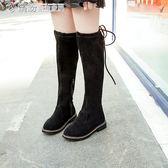 冬款女童馬丁靴子防滑兒童長靴中大童棉靴女孩雪地靴 「繽紛創意家居」
