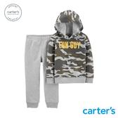 【美國 carter s】 迷彩2件組套裝(連帽上衣)