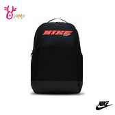 NIKE後背包 BRASILIA 運動後背包 大容量 防潑水 側邊可裝水壺 筆電包 內有層袋 BB023#黑色