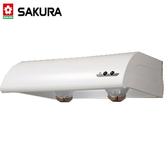【櫻花牌】單層式除油煙機  烤漆白80公分 - R-3012L