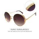 歐美復古圓框墨鏡 祕密花園宮廷風格 金屬圓框太陽眼鏡 抗紫外線UV400