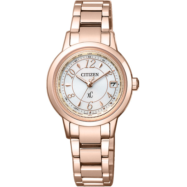 CITIZEN xC 戀戀梵蒂岡電波時計腕錶-EC1144-51C