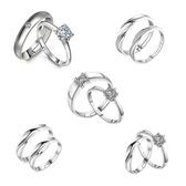 婚禮儀式鉆戒假婚戒情侶戒指仿真一對男女結婚典禮交換道具對戒