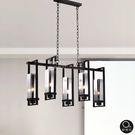 吊燈★現代工業風 長形透光燭燈 5燈✦燈具燈飾專業首選✦歐曼尼✦