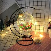 LED星星燈許愿瓶夜光幸運星玻璃木塞瓶創意瓶擺件星星瓶圓形吊瓶 sxx1877 【衣好月圓】