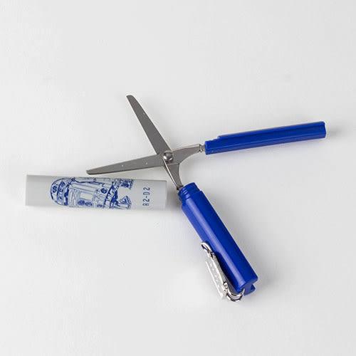 《sun-star》星際大戰金屬牌飾 stickyle攜帶型剪刀(R2-D2)★funbox生活用品★_UA50143