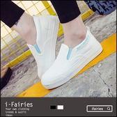 平底懶人鞋帆布鞋休閒鞋★ifairies【56563】