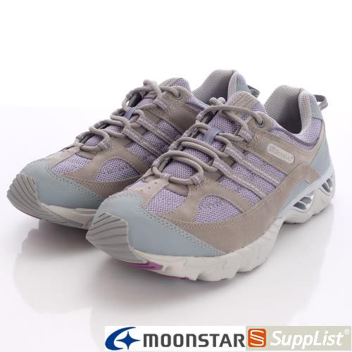 【MOONSTAR】Supplist戶外健走鞋-(3E寬楦)休閒紓壓款-92TEF7紫-女段(22.5cm)