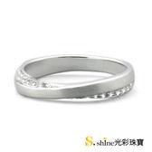 【光彩珠寶】婚戒 18K金結婚戒指 女戒 比翼雙飛