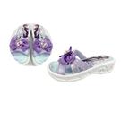 【樂樂童鞋】台灣製冰雪奇緣拖鞋-紫色 F068-1 - 女童鞋 拖鞋 大童鞋 室內鞋 沙灘鞋 現貨 台灣製 MIT