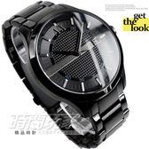 A|X IP黑電鍍 不銹鋼 黑面 47mm 男錶 時間玩家 ARMANI EXCHANGE AX2104