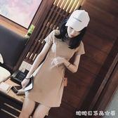 洋裝女夏新款女裝韓版修身顯瘦內搭打底短款pphome裙 糖糖日系森女屋