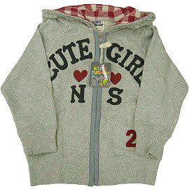 【波克貓哈日網】童裝連帽外套荷葉邊棉外套《100cm》灰色