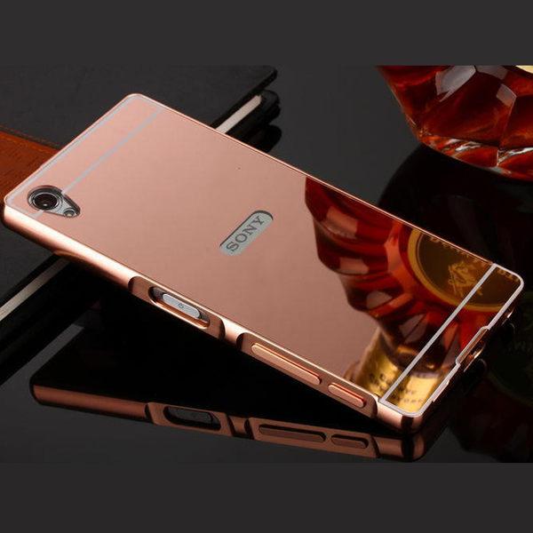SONY Z5 Premium plus Z5 Compact 手機殼 金屬邊框 亞克力 索尼 Z5P Z5MINI 鏡面 保護套 殼 邊框 電鍍