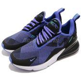 Nike 慢跑鞋 Air Max 270 KJCRD GS 藍 黑 大氣墊 大型後跟氣墊 運動鞋 女鞋 大童鞋【PUMP306】 AR0301-500