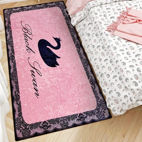 3D金鉆絨床邊地毯客廳茶幾臥室短絨地墊陽臺入戶門毯可水洗可定制 3C優購
