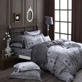 OLIVIA【 Alexander 鐵灰 】 標準雙人床包兩用被套四件組 棉天絲系列 全程台灣生產製作