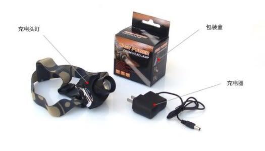 [協貿國際]  夜釣頭燈LED遠射強光充電釣魚頭燈