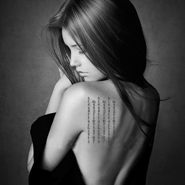 紋身貼 紋身貼紙 刺青貼紙 梵文 刺青 微刺青 刺青圖 樊文 女紋身貼 紋身 花臂 肩膀 8037