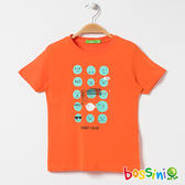 印花短袖T恤18芒果黃-bossini男童