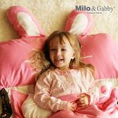 【總代理公司貨】美國 Milo & Gabby 動物好朋友-三合一超柔軟四季睡袋/兒童睡袋(LOLA兔兔)