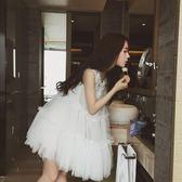 連身裙女蓬蓬裙公主裙學生成人蕾絲裙天裙子潮   居家物語